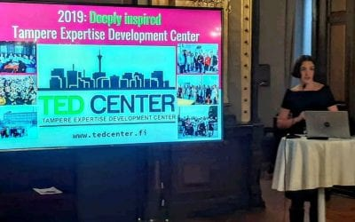 11.12.2019 TED Center presented at Tampere City Hall at Tampere Ambassadors event