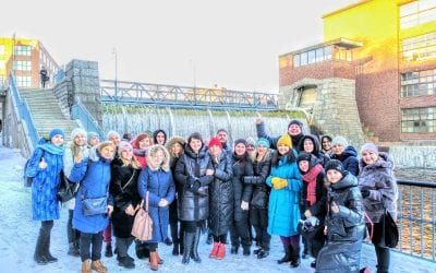 Group of educators from Ukraine in Tampere