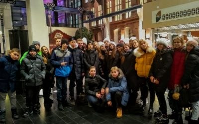 Group of pupils from Ukraine visiting Tampere
